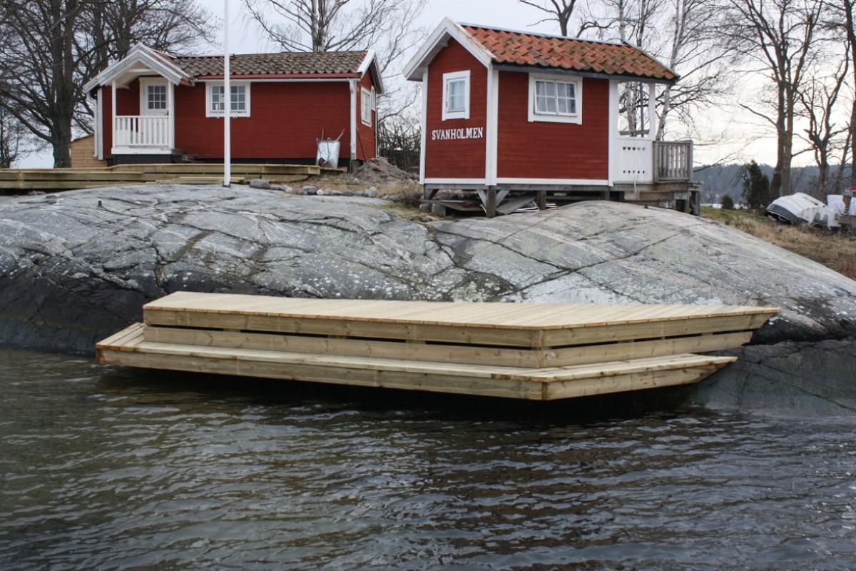 Konsolbrygga Svanholmen Lidingö